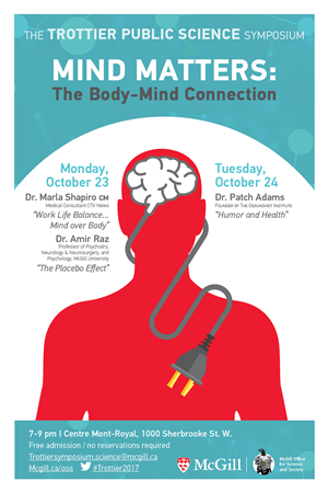 "Mini-Poster for the 2017 Trottier Public Science Symposium. ""Mind Matters: The Body-Mind Connection"""