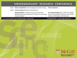Undergraduate Research Conference mini-poster