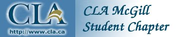 Logo of the CLA McGill student chapter.