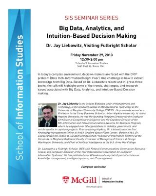 SIS Seminar Series with J. Leibowitz, Nov. 29, 2013