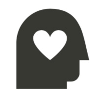 Silhouette of a head with a heart inside