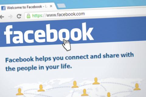 Screenshot of Facebook login page