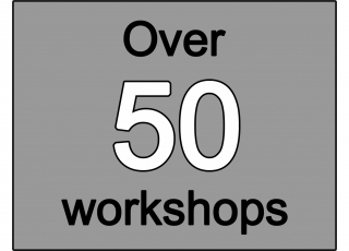 Over 50 workshops