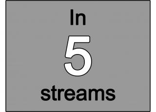 In 5 streams