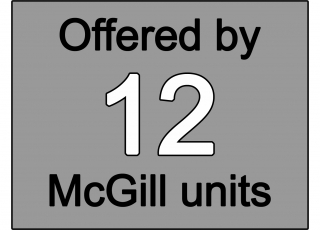 Offered by 12 McGill units