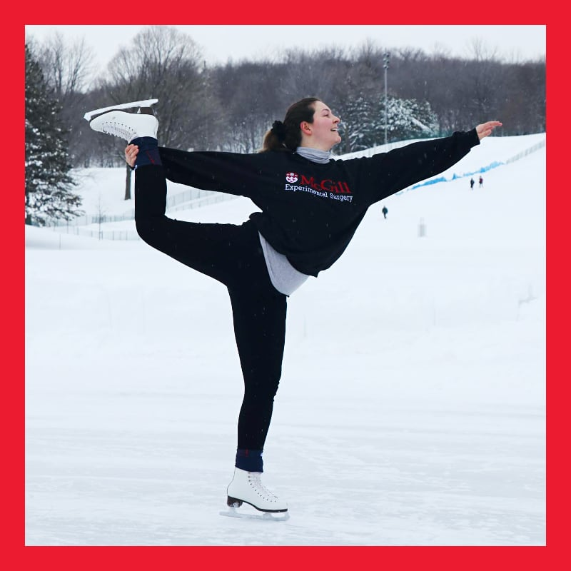 A McGill student figure skating