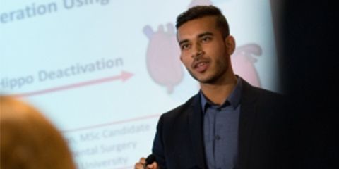 Kashif Khan presents his three minute thesis.