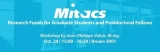 Blue Image reading Mitacs, Research funds for graduate student and postdoctoral fellows. Oct 24, 3pm to 4:30pm in Brown 3001