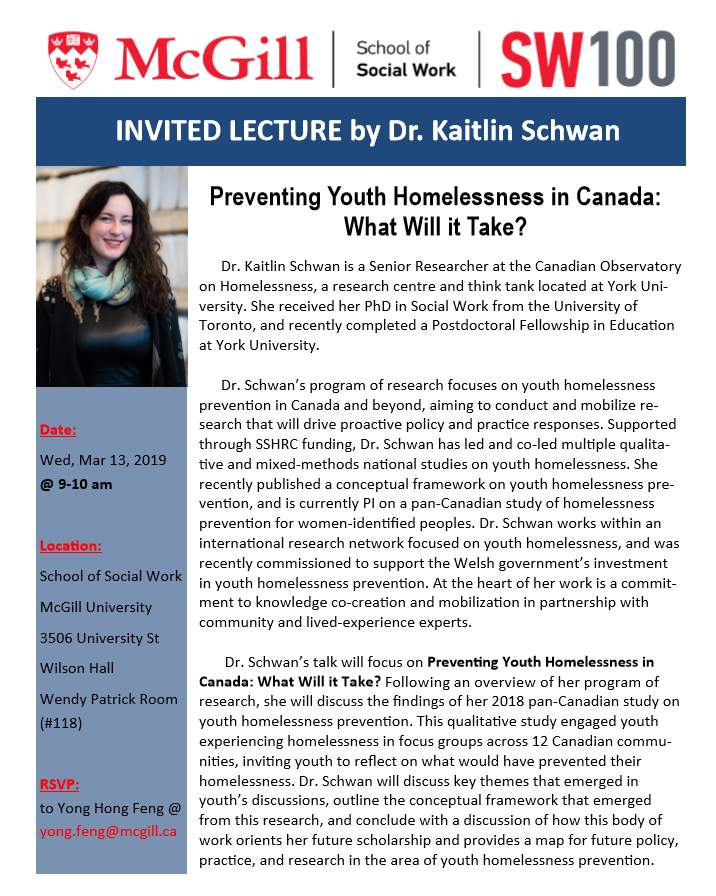 Invited Lecture by Dr  Kaitlin Schwan - Preventing Youth