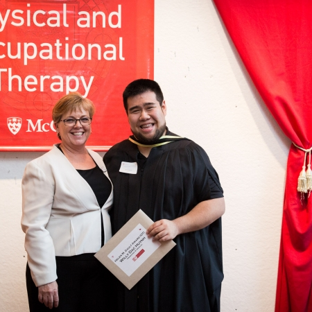 Presenting of Helen M. Gault (OT) award to Willy Huynh