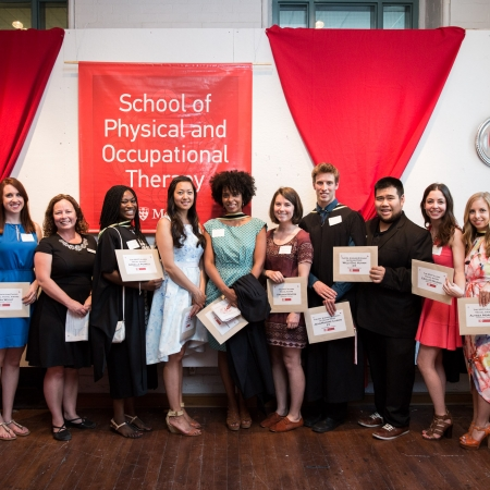 recipients and presenters of OT and PT Travel awards and Nicol Korner-Bitensky Altruism Awards