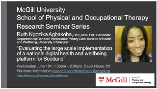 """Ruth Ngozika Agbakoba Seminar: """"Evaluating the large scale implementation of a national digital health and wellbeing platform for Scotland"""""""