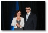 Claudia Brown was honored with the Prix d'excellence physiothérapeute 2015 at the annual gathering of the Ordre professionnel de la physiothérapie du Québec