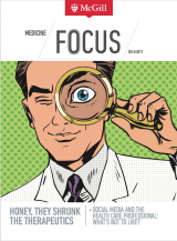 Link to the Faculty of Medicine's 2016/2017 Focus Newsletter, photo of cover
