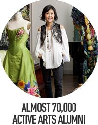 Almost 70,000 active arts alumni