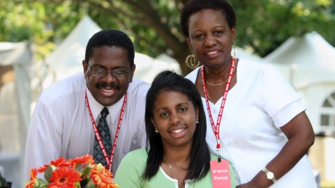 McGill student and parents