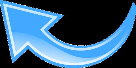 Flèche bleue