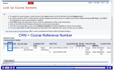 Using Minerva to register | Courses and Programs - McGill ...