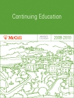McGill University 2009-2010 Continuing Education Calendar