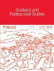 McGill University 2009-2010 GRADUATE AND POSTDOCTORAL STUDIES Calendar