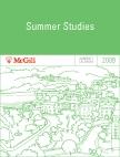McGill University 2009 Summer Studies Calendar