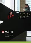 2007-08 Summer Studies calendar