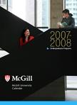 2007-08 Undergraduate Programs calendar