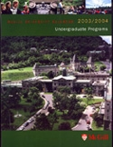 front cover of the 2003-2004  McGill University Undergraduate Calendar