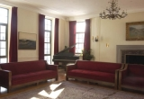Students can relax in the Douglas Hall piano room.