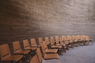 picture of empty seats in a small auditorium