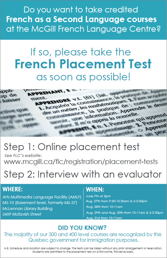 French Placement Test FLC 2018