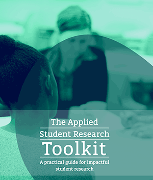 Cover for the Applied student research technical toolkit guide, link to guide