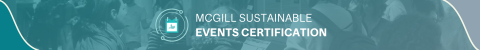 McGill Sustainable Events Certification