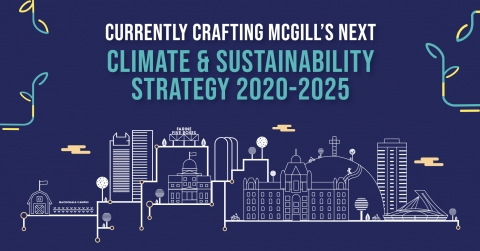 Poster for McGill's Climate & Sustainability Strategy