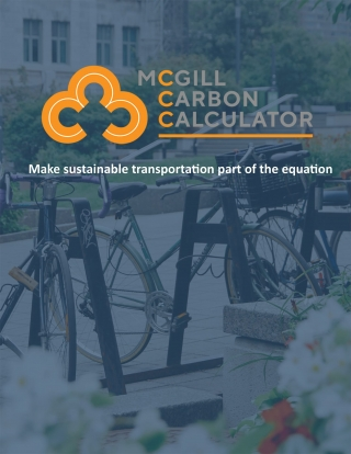 Mc3Gill Carbon Calculator: Make sustainable transportation part of the equation