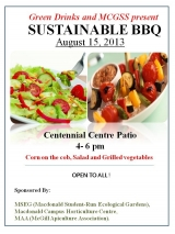 Sustainable BBQ Poster | Mac Campus August 15