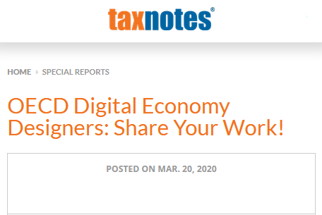 TaxNotes - OECD Digital Economy Designers: Share Your Work!