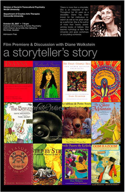 Film Premiere & Discussion with Diane Wolkstein: A Storyteller's story