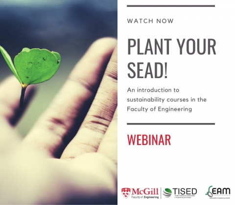 watch now- plant your sead an introduction to sustainability courses in the faculty of engineering - webinar
