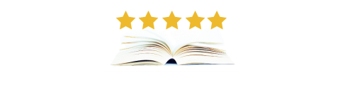 image of open book with five stars above
