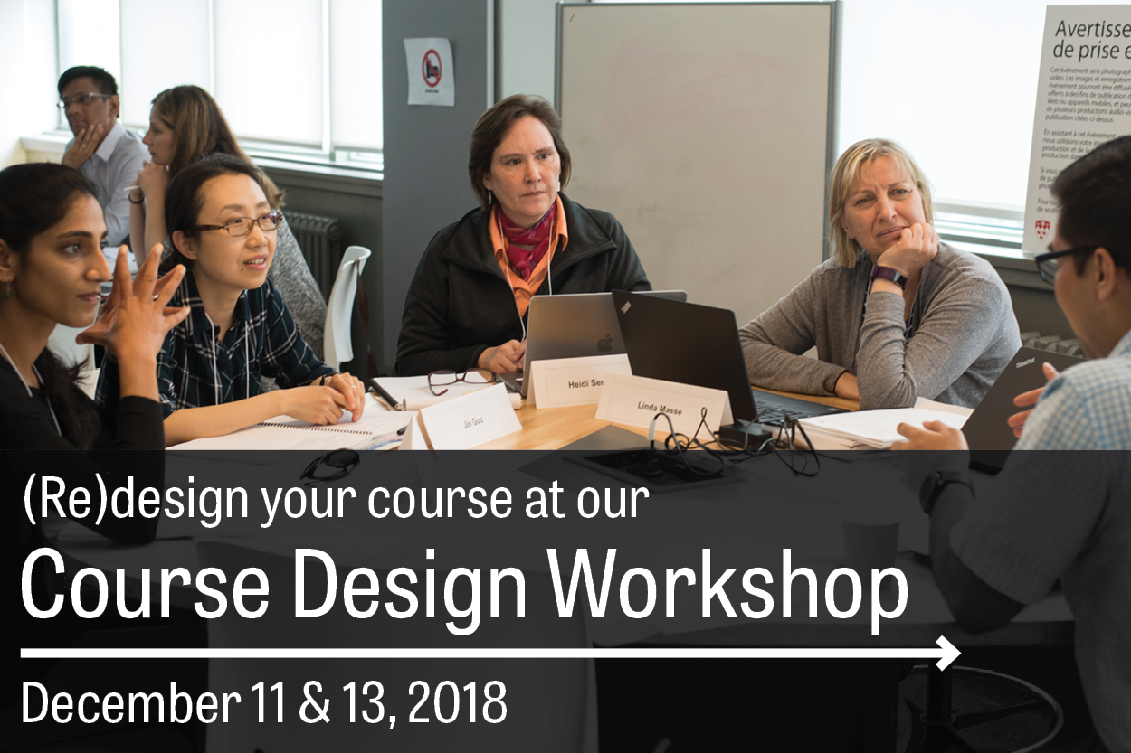 Design your course at our Course Design Workshop!