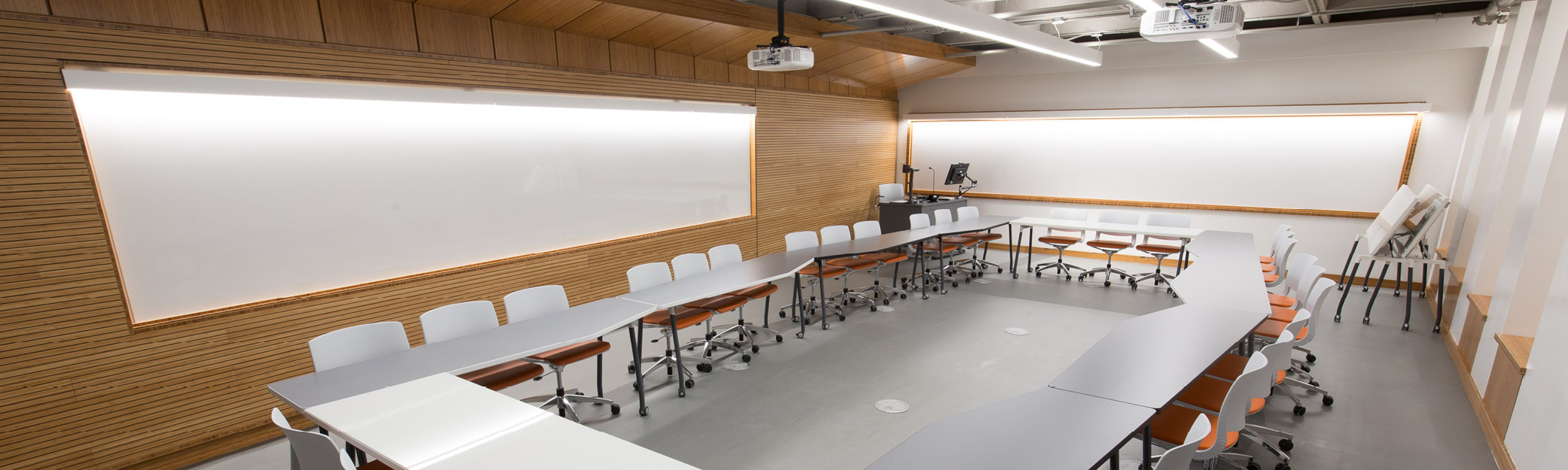 New Chancellor Day Hall classroom