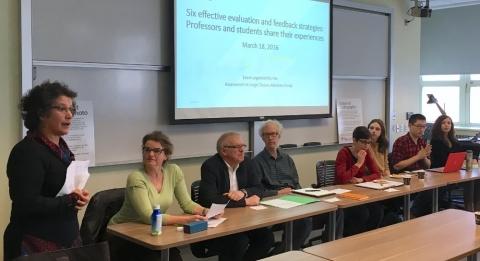 A group of panelists at an AFG Brown Bag meeting