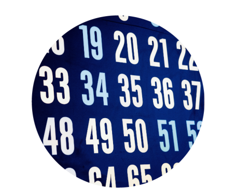 Sequential numbers on a screen