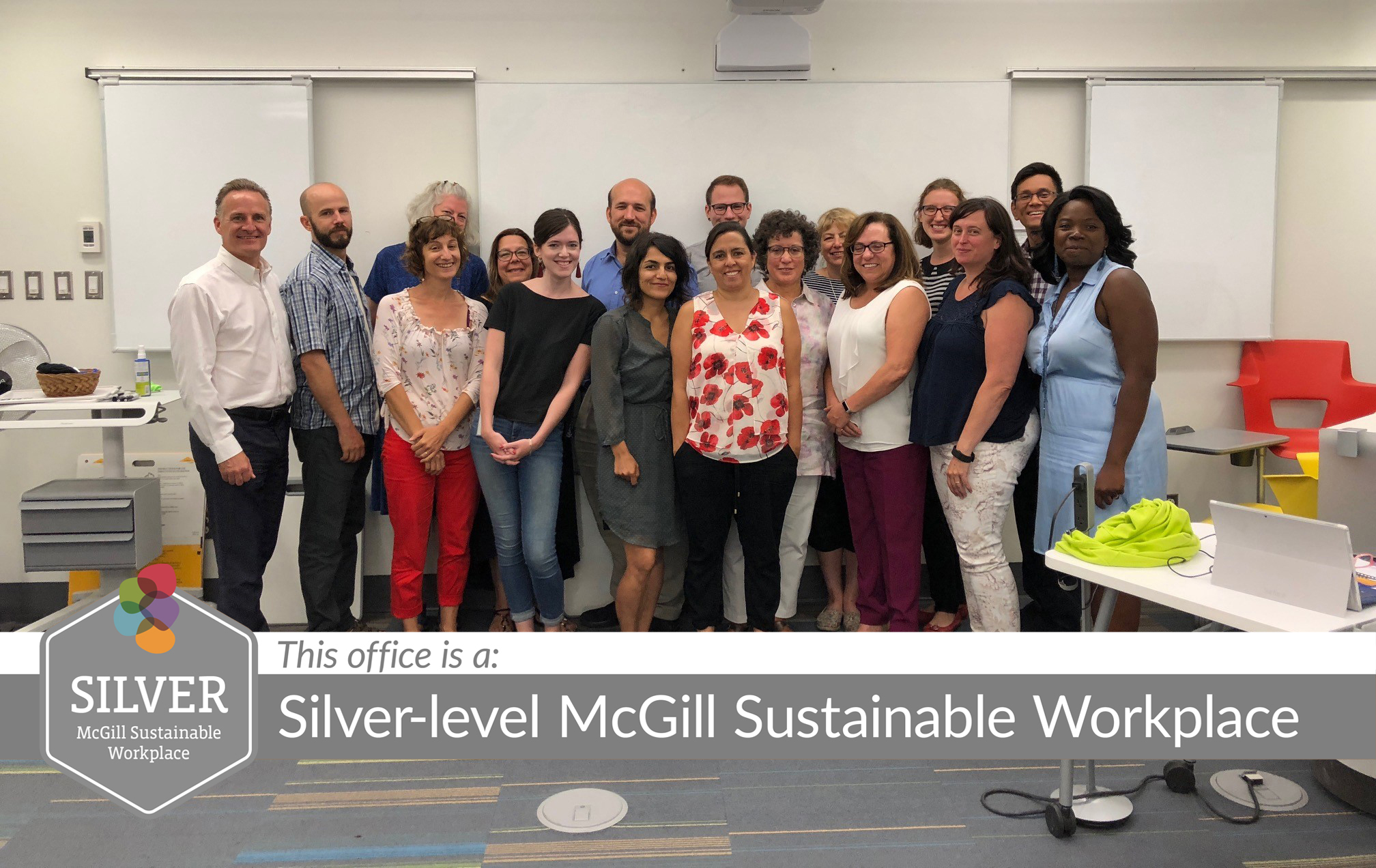 TLS Staff Silver-level McGill Sustainable Workplace