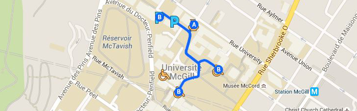 Map of the Main Campus parking area.