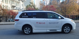 Photo of the McGill adapted transport vehicle