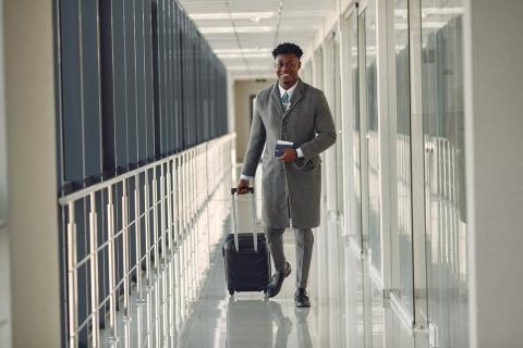 Man walking with luggage