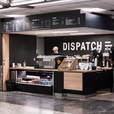 Photo of Dispatch coffee shop on campus