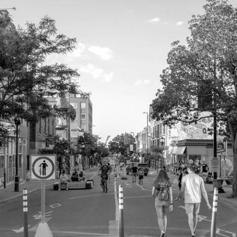 Photo d'une rue de Montréal